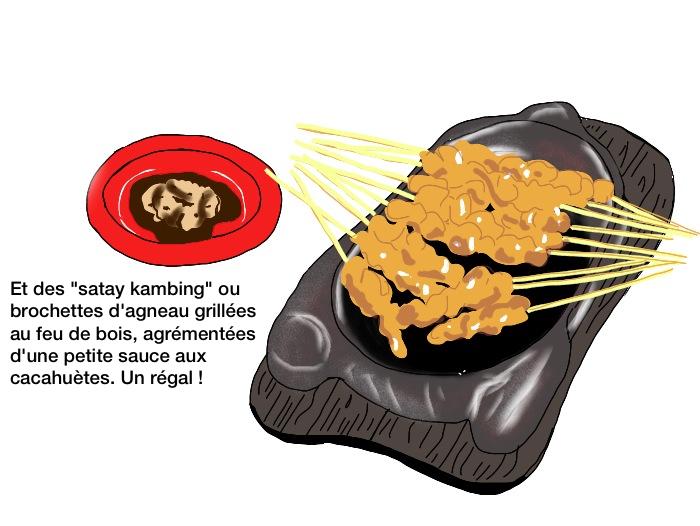 Bang Kumis sate kambing et leur sauce